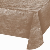Rose Gold Metallic Tablecloths 12 ct