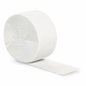 Touch of Color White Crepe Streamer in quantities of 1 / pkg, 12 / case