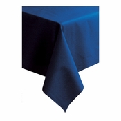 "Navy Linen-Like 50"" x 108"" Tablecloths sold in quantities of 1 / pkg, 20 pkgs / case"