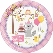 Happi Woodland Girl Dinner Plates 96 ct