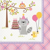 Happi Woodland Girl Luncheon Napkins 192 ct