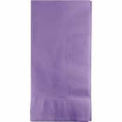 Touch of Color Luscious Lavender 2 Ply Dinner Napkins in quantities of 50 / pkg, 12 pkgs / case