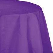 Amethyst Purple Octy Round Paper Tablecloth 12 ct