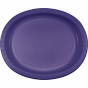 Purple Oval Platters sold in quantities of 8 / pkg, 12 pkgs / case.