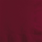Touch of Color Burgundy 2 ply Beverage Napkins in quantities of 50 / pkg, 12 pkgs / case