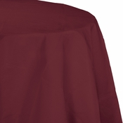 Touch of Color Burgundy Octy-Round Paper Tablecloths in quantities of 1 / pkg, 12 pkgs / case
