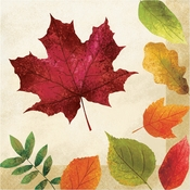 Colorful Leaves Luncheon Napkins 192 ct