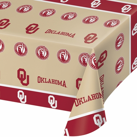 University of Oklahoma Plastic Tablecloths 12 ct