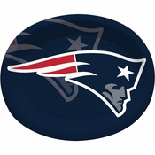 Red, white and blue New England Patriots Oval Platters are sold 8 / pkg, 12 pkgs / case