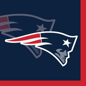 Red, white and blue New England Patriots Beverage Napkins are sold 16 / pkg, 12 pkgs / case