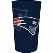 Red, white and blue New England Patriots 22 oz Plastic Stadium Cups are sold 1 / pkg, 20 pkgs / case