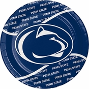 Blue and white Penn State Dinner Plate sold in quantities of 8 / pkg, 12 pkgs / case
