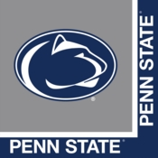 Blue and white Penn State Luncheon Napkin sold in quantities of 20 / pkg, 12 pkgs / case