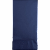 Touch of Color Navy 3 Ply Guest Towels in quantities of 16 / pkg, 12 pkgs / case