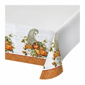 Bountiful Cornucopia Plastic Tablecloths 12 ct