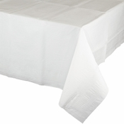 Touch of Color White Paper Tablecloths in quantities of 1 / pkg, 12 pkgs / case
