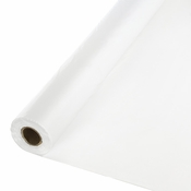 Touch of Color White Banquet Table Roll in quantities of 1 / pkg, 1 pkg / case