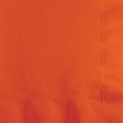 Touch of Color Sunkissed Orange 2 ply Beverage Napkins in quantities of 50 / pkg, 12 pkgs / case