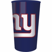 Blue, red and white New York Giants 22 oz Plastic Stadium Cups sold in quantities of 1 / pkg, 20 pkgs / case