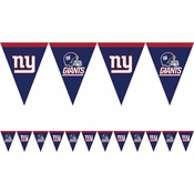 Blue, red and white New York Giants Flag Banners sold in quantities of 1 / pkg, 12 pkgs / case