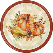 Autumn Wreath Dessert Plates 96 ct