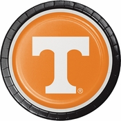 Orange and white Tennessee University Dinner Plate sold in quantities of 8 / pkg, 12 pkgs / case