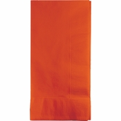 Touch of Color Sunkissed Orange 2 Ply Dinner Napkins in quantities of 50 / pkg, 12 pkgs / case