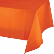 Sunkissed Orange Plastic Tablecloth 24 ct