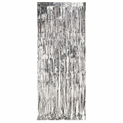 Silver Foil Door Curtain 6 ct