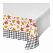 Falling Leaves Plastic Tablecloths 12 ct