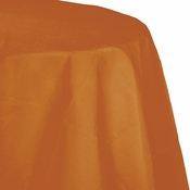 Pumpkin Spice Orange Octy Round Tablecloth 12 ct