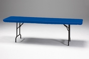 "Royal Blue Stay Put 30"" x 96"" Tablecloths sold in quantities of  1 / pkg, 12 pkgs / case"