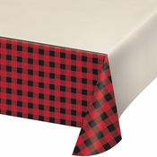 Buffalo Plaid Plastic Tablecloths 6 ct