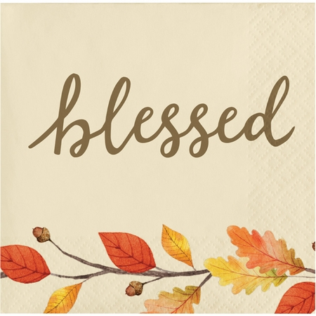 Thankful Beverage Napkins 192 ct