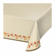 Thankful Plastic Tablecloths 12 ct