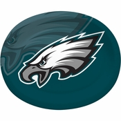 Midnight green, black and white Philadelphia Eagles Oval Platters sold in quantities of 8 / pkg, 12 pkgs / case