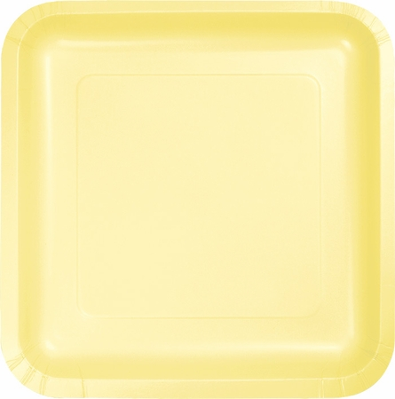 Touch of Color Mimosa Square Dessert Plates in quantities of 18 / pkg, 10 pkgs / case