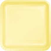 Touch of Color Mimosa Square Dinner Plates in quantities of 18 / pkg, 10 pkgs / case
