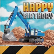 Big Dig Construction Happy Birthday Luncheon Napkins 192 ct
