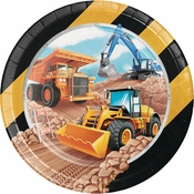 Big Dig Construction Dinner Plates 96 ct