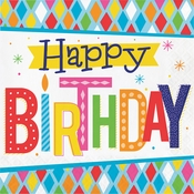 Bright Birthday Luncheon Napkins 192 ct