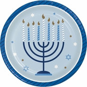 Hanukkah Celebration Dessert Plates 96 ct