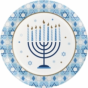 Hanukkah Celebration Dinner Plates 96 ct