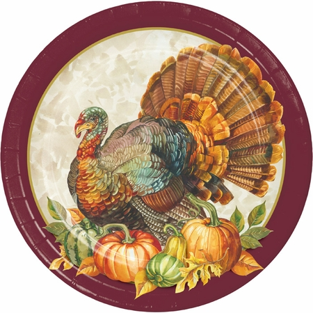 Traditional Turkey Banquet Plates 96 ct