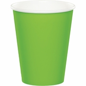 Touch of Color Fresh Lime 9 oz Hot & Cold Cups 240 ct in quantities of 24 / pkg, 10 pkgs / case