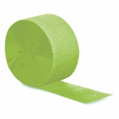 Fresh Lime Green Crepe Streamers 12 ct