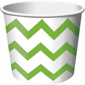 Lime Green Chevron Ice Cream Treat Cups sold in quantities of 6 / pkg, 12 pkgs / case