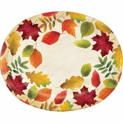Colorful Leaves Oval Plates 96 ct