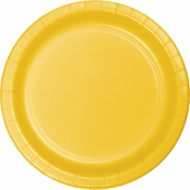 School Bus Yellow Dinner Plates 96 ct