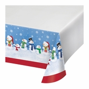 Smiling Snowmen Plastic Tablecloths 12 ct